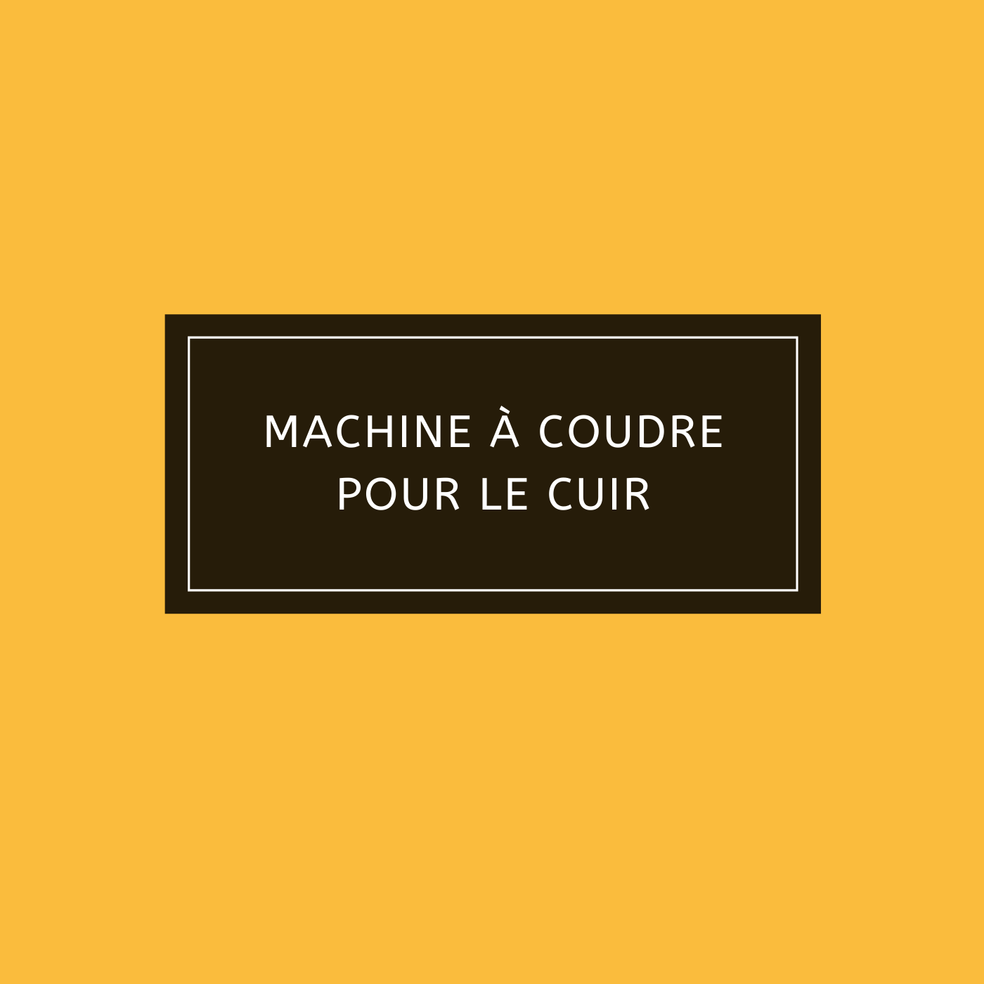 Machine à coudre pour le cuir